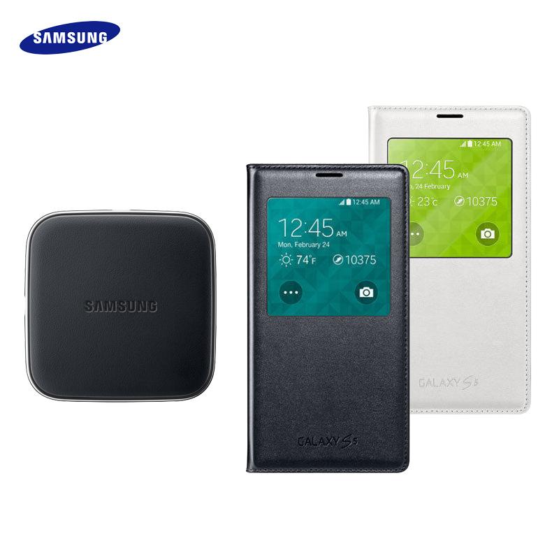 Samsung Galaxy S5 I9600 G900i 原廠 S View 無線充電保護套+無線充電板/國際QI標準/充電器/原廠公司貨