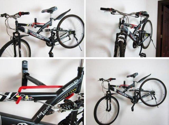 《意生》掛鉤加大《T型款》自行車壁掛架承重20KG適用任何車種 壁掛式展示架掛壁式壁掛式展示架掛車架牆壁掛鉤掛架