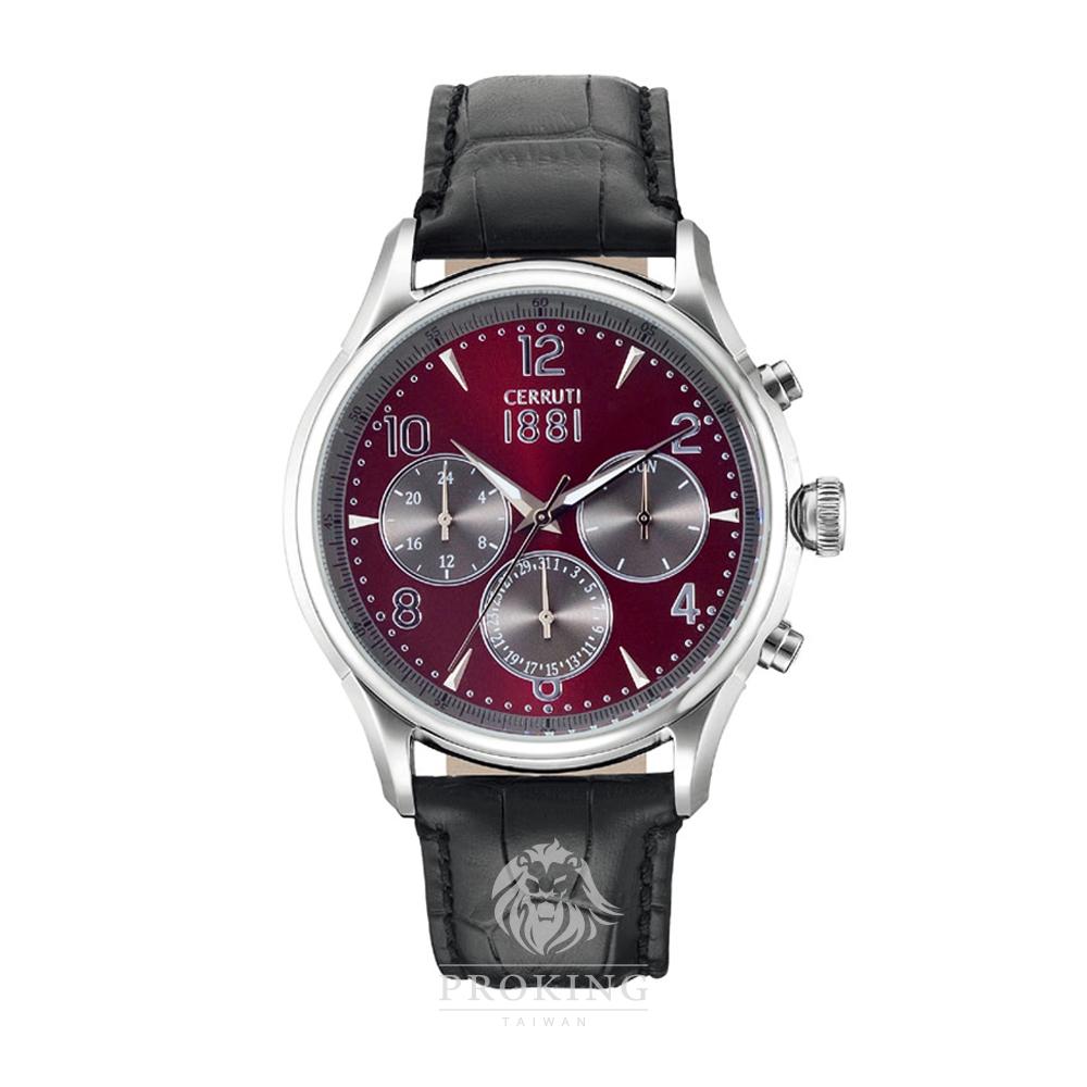 CERRUTI 1881 切瑞蒂-BELLAGIO 率性時尚三眼石英錶