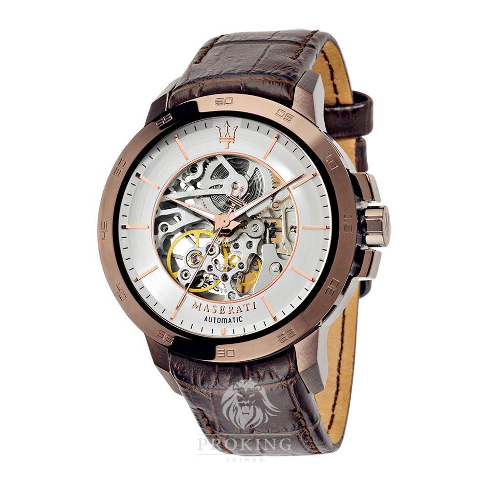 〔2016新品〕MASERATI 瑪莎拉蒂 - INGEGNO 多層次錶盤設計機械錶