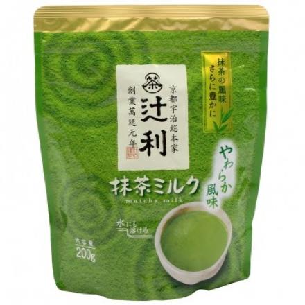 日本片岡辻利抹茶牛奶粉200g/4901305410197