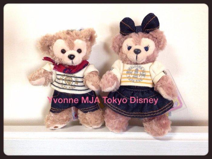 *Yvonne MJA日本代購*東京迪士尼海洋樂園限定正品Duffy達菲熊雪莉玫牛仔風吊飾