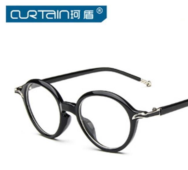 50%OFF【J009786Gls】新款復古小清新金屬鉸鏈眼鏡框潮百搭大框修飾框架眼鏡 附眼鏡盒 防紫外線 明星款 反光鏡面