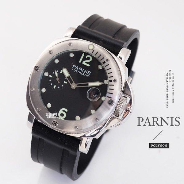 【完全計時】手錶館│PARNIS 瑞典軍錶風格 戰將時刻 自動機械錶 PA3010 經典款 44mm L 飛行錶