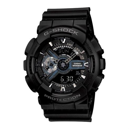CASIO G-SHOCK GA-110-1B經典質感黑流行腕錶/黑面51mm