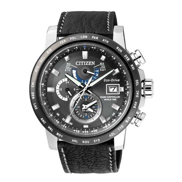 CITIZEN星辰AT9071-07E雅痞紳士電波光動能腕錶/黑面43mm