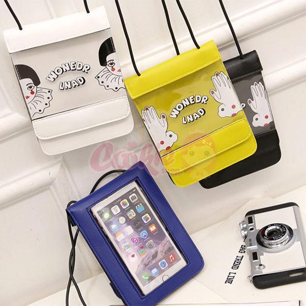 韓國東大門新款卡通多層手機包零錢包 側背包【庫奇小舖】