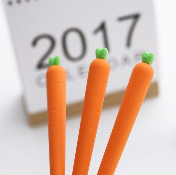 仿真紅蘿蔔筆胡蘿蔔筆水性造型筆0.5cm原子筆婚禮簽名筆中性筆造型筆韓國創意文具學生用品兔寶寶最愛
