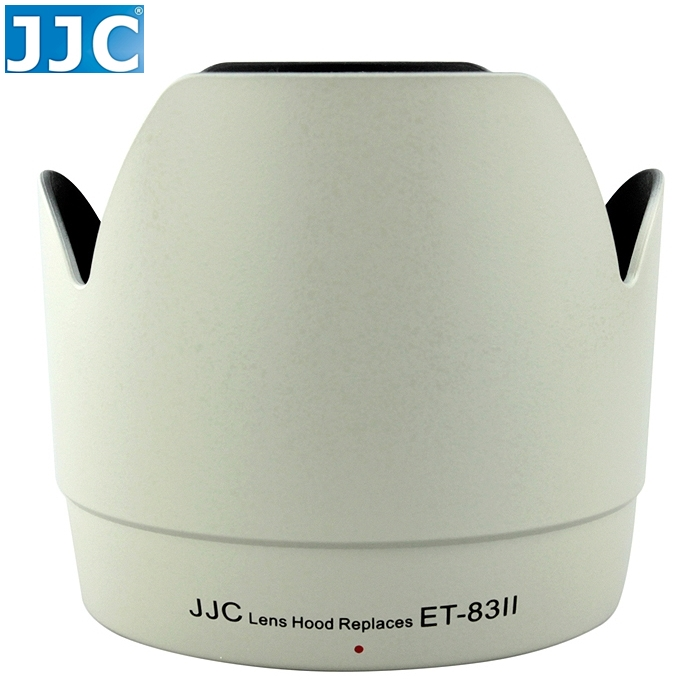 又敗家@JJC佳能CANON副廠遮光罩ET-83II遮光罩(白色.可反扣同原廠CANON遮光罩ET83II太陽罩)適EF 70-200mm f/2.8L USM f2.8L f2.8 f/2.8  L小白兔遮光罩小白太陽罩小白遮光罩ET-83II太陽罩lens hood