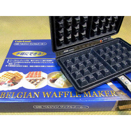 【福介生活館】日本鐵器【比利時鬆餅 鑄鐵燒烤盤】~waffle餅 格子派烘培器~水果冰淇淋鬆餅 鮮奶油楓糖鬆餅 鬆餅烤盤