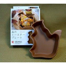 【福介生活館】日本石垣【小松鼠 陶碗】~烤箱陶器 烘培 焗烤 濃湯 微波餐具~蛋糕 點心 早餐 水果盤 陶瓷碗盤 寵物
