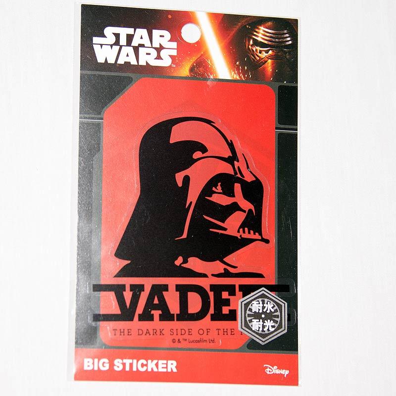 星際大戰 STAR WARS 黑武士 VADER 透明PVC防水耐光貼紙 日本製 正版品