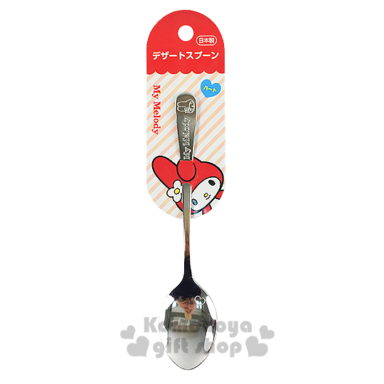 〔小禮堂〕美樂蒂 日製不鏽鋼湯匙《大.銀.大臉》可愛又實用