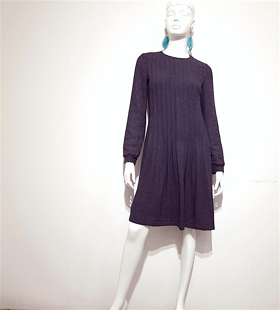 ★限量★免運 ❤️ 時尚名媛風❤️ 前打褶棉麻長袖洋裝 ☛台灣製造