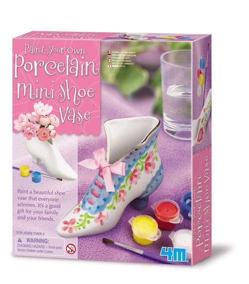 【4M 創意 DIY】Paint Your Own Porcelain Mini Shoe Vase 彩繪迷你靴型花瓶
