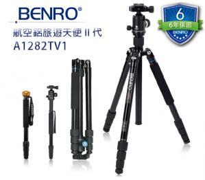BENRO百諾   C1282TV1航空鋁旅遊天使二代可拆式碳纖維腳架V系列套組    送原廠腳架袋   勝興公司貨