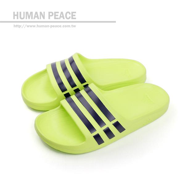 adidas Duramo Slide 拖鞋 黃 男女款 no125