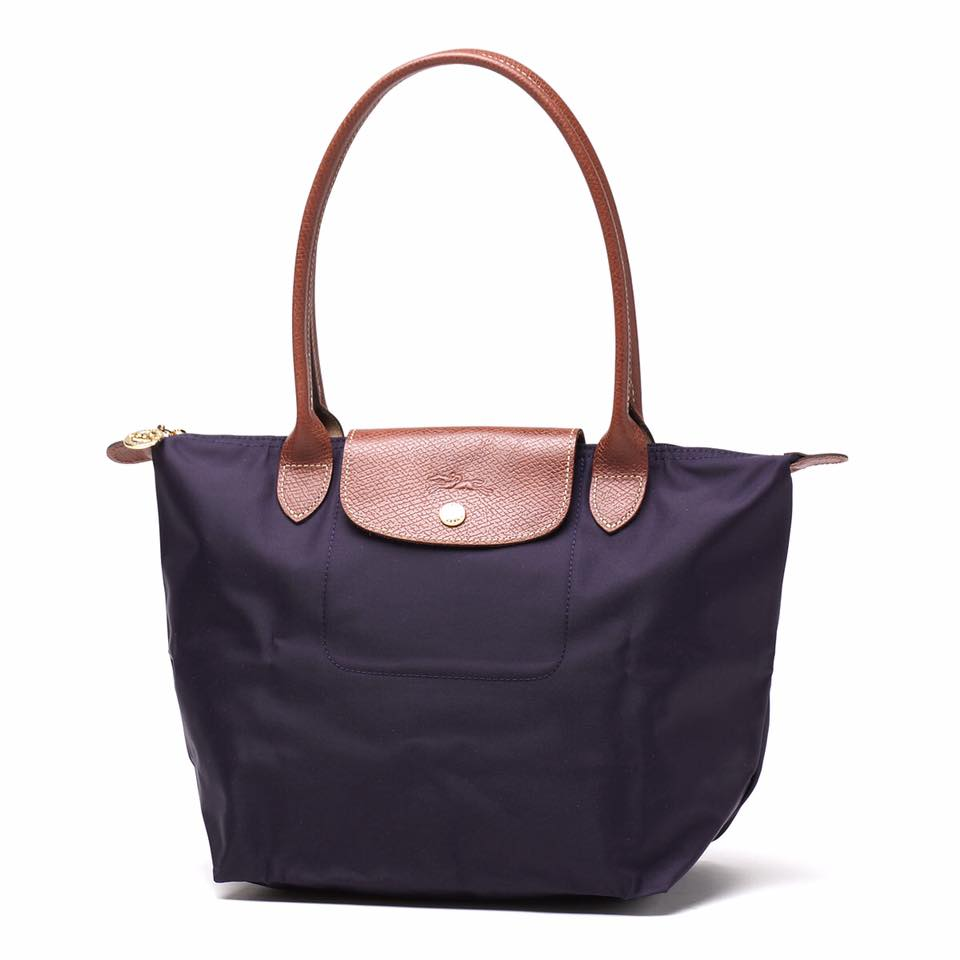 【LONGCHAMP】 LE PLIAGE 基本摺疊款/長把水餃包(深紫/小)