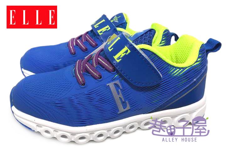 【巷子屋】ELLE 夜光系列-男童康特杯輕量運動慢跑鞋 [52126] 籃 超值價$398