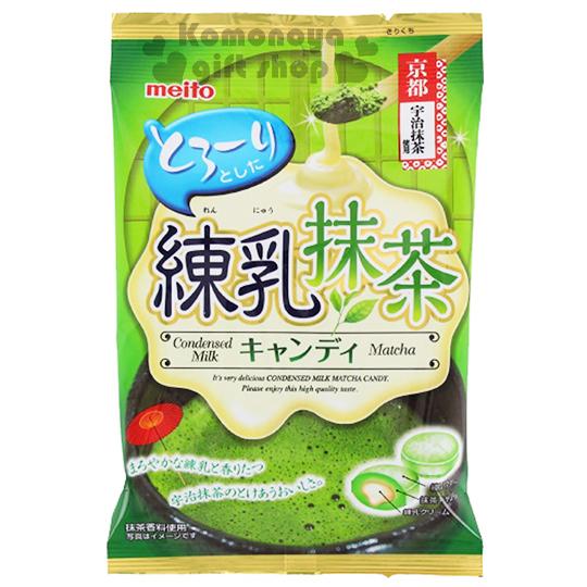 〔小禮堂〕日本原產 名糖Meito 煉乳抹茶糖《硬糖.60g.袋裝》