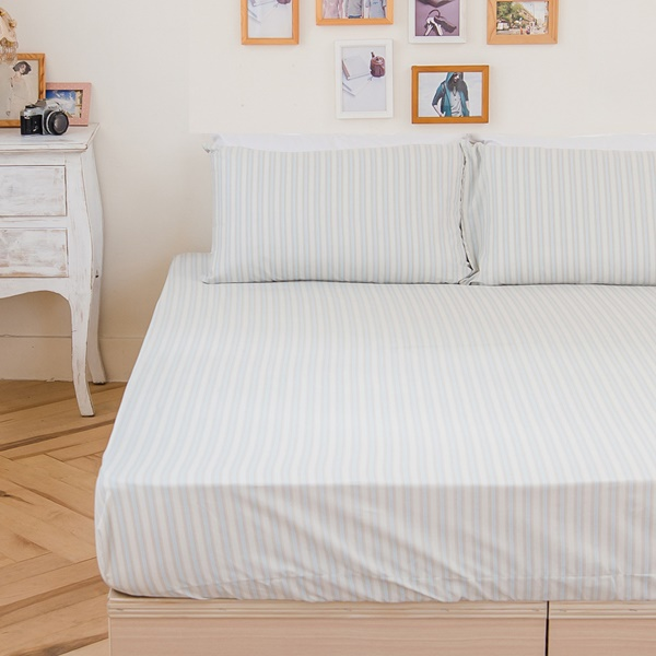 [SN]#B166#寬幅100%天然極緻純棉5x6.2尺雙人床包+枕套三件組*台灣製/SGS檢驗/床單/床巾