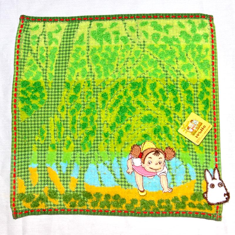龍貓 TOTORO 小梅 純棉 立體方巾 毛巾 手帕 日本正版品 宮騎駿