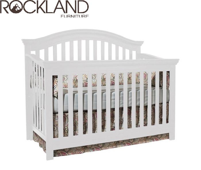 【Rockland】奧克蘭四合一大床(2色)-附贈床墊+床側護欄