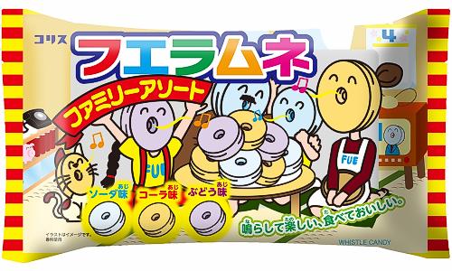 有樂町進口食品 日本CORIS 可利斯童玩 口笛糖 40入/110g 4901361042868