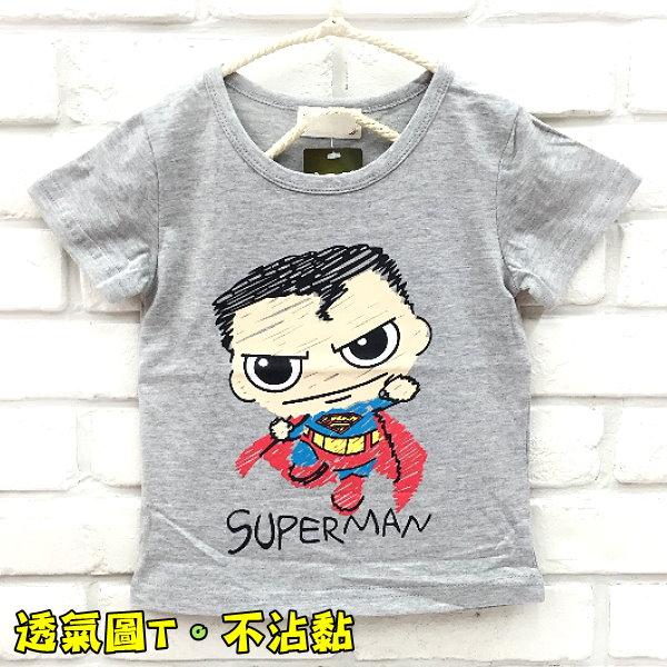【班比納精品童裝】彈力S標誌超人棉T-灰【BO160304003】
