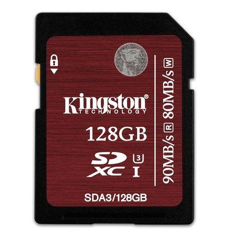 *╯新風尚潮流╭*金士頓 128G 128GB SDXC C10 UHS-I U3 記憶卡 SDA3/128GB