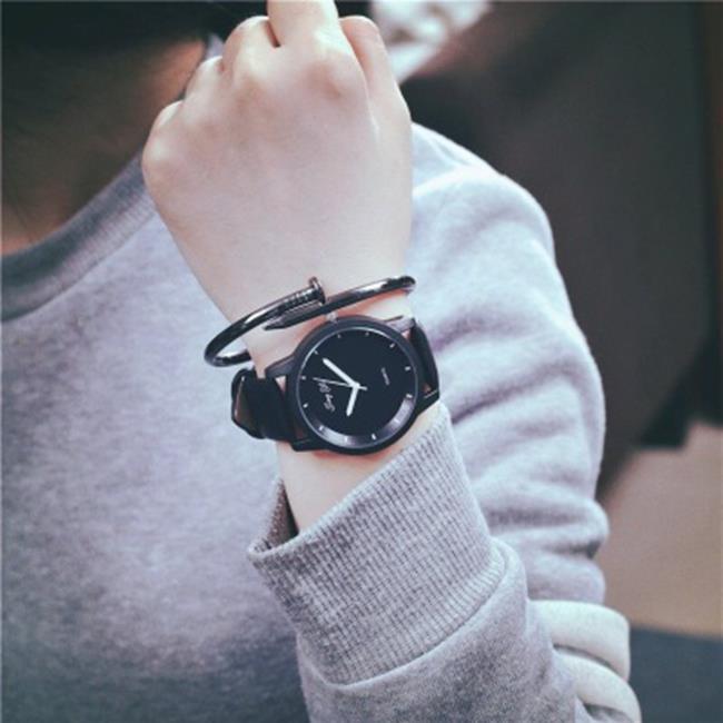 50%OFF【H019057WAH】新款手錶男學生潮韓國青少年潮流時尚女韓版簡約皮帶情侶石英s表