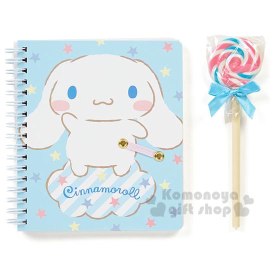 〔小禮堂〕大耳狗 筆記本附筆組《藍.雲朵.棒棒糖.透明盒裝》文具禮盒系列