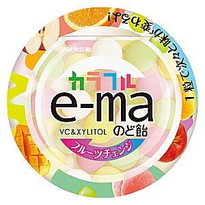 【UHA味覺糖】e-ma七彩水果喉糖(盒裝)(33g)