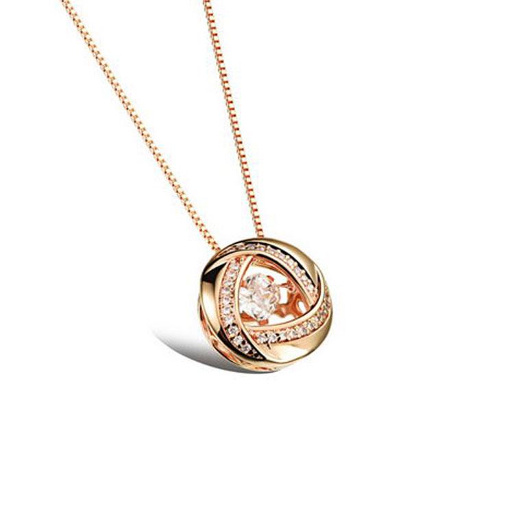 最新款日韓風格時尚立體環繞巢型水鑽造型女款鍍白金鍍18K金項鍊