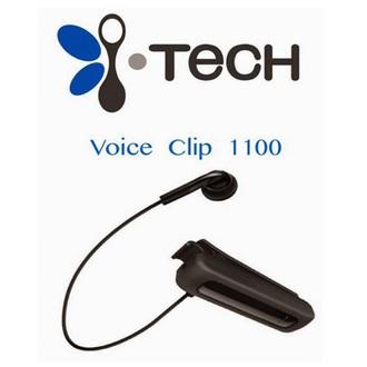 i-Tech來電震動夾式藍牙耳機(黑) Voice Clip 1100