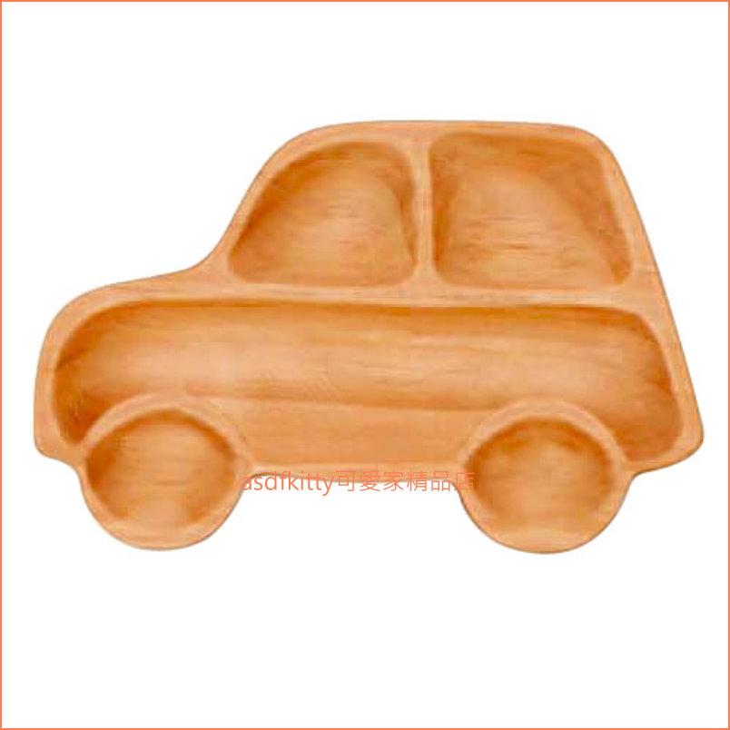asdfkitty可愛家☆車子造型木製餐盤/兒童餐盤/水果盤/點心盤-日本正版商品