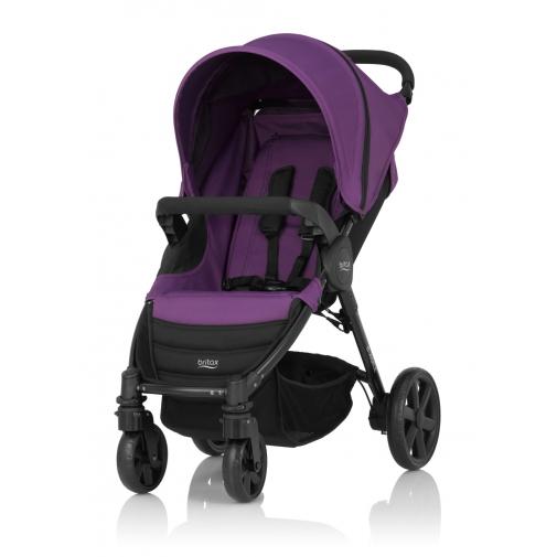 Britax - B-Agile單手收豪華四輪手推車 (紫) 加購Britax - Baby-Safe提籃享特價優惠!