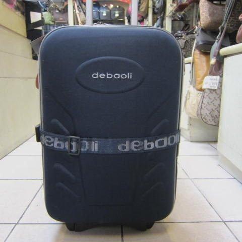 ~雪黛屋~debaoli 18寸小型輕量可加大行李箱硬式蜂巢板平穩好推拉防水尼龍布鋁合金拉桿藍紅