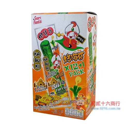 【0216零食會社】Kabuki健康紫菜捲-烤魷魚味
