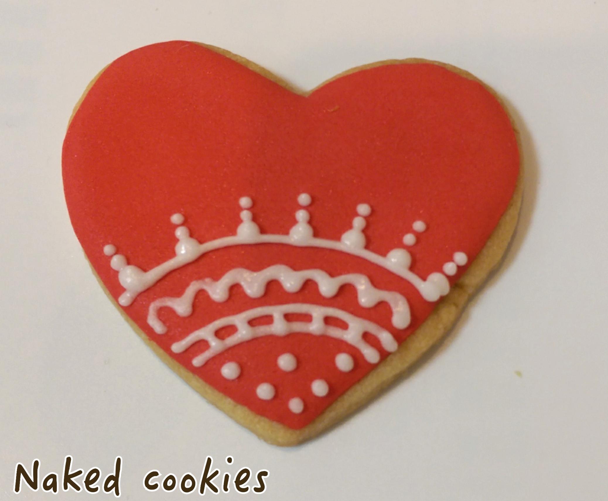 【裸餅乾Naked Cookies】愛心蕾絲款6入-創意手工糖霜餅乾,婚禮/生日/活動/收涎/彌月