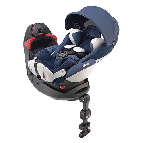 【悅兒樂婦幼用品舘】Aprica 愛普力卡 平躺型嬰幼兒汽車安全臥床椅 Fladea grow DX-威尼斯藍