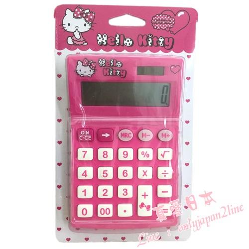【真愛日本】16083000015計算機-KT字母愛心桃    三麗鷗 Hello Kitty 凱蒂貓   文具用品 正品