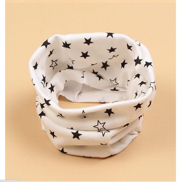 PS Mall 外貿新款秋冬季爆款兒童五星圍巾卡通印花純棉寶寶圍脖 星星款【J1885】