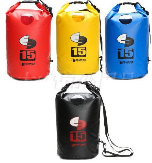 【露營趣】EQUINOX 100 防水袋 (素色) 防水包 肩背 側背 15 公升 衝浪 泛舟 墾丁 浮潛 溯溪 釣魚 111113