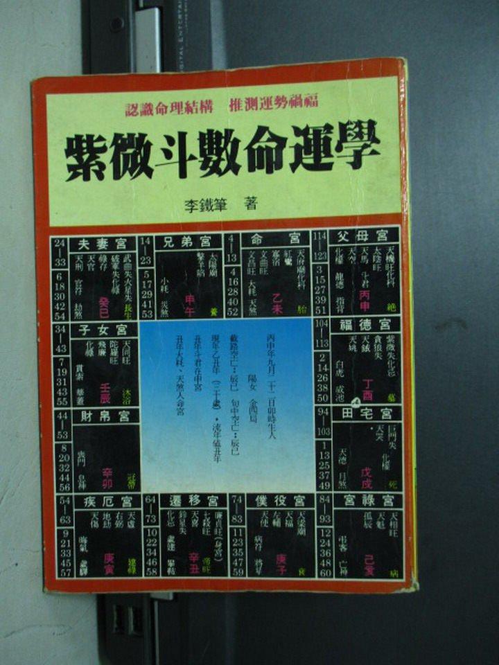 【書寶二手書T3/命理_NSV】紫微斗數命運學_李鐵筆