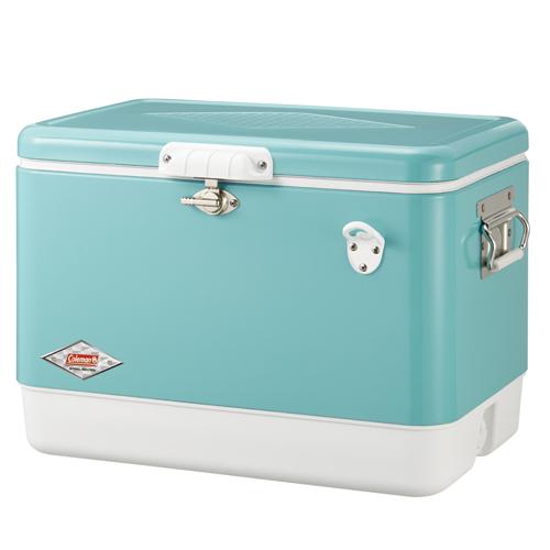 【露營趣】中和 送保護套 Coleman  51L美國藍經典鋼甲冰箱 行動冰箱 冰桶 露營冰桶 CM-03739