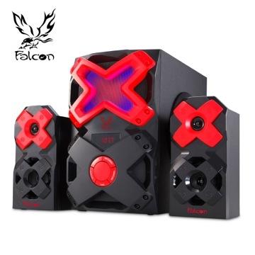 Falcon 蒼穹之隼 2.1聲道多媒體喇叭 5.25吋低音箱 60W  專為遊戲玩家設計  首創6段RGB發光飾板