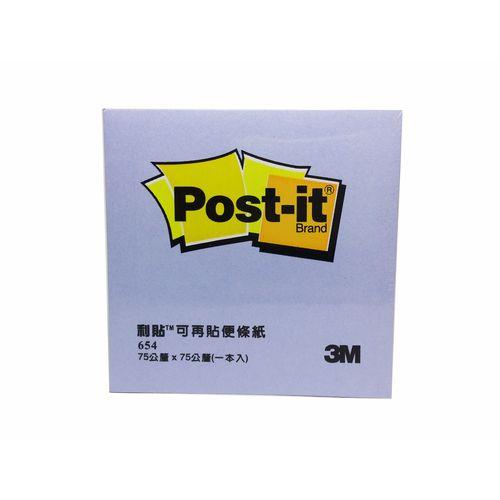 《☆享亮商城☆》654-5A 粉紫 利貼便條紙3*3  3M