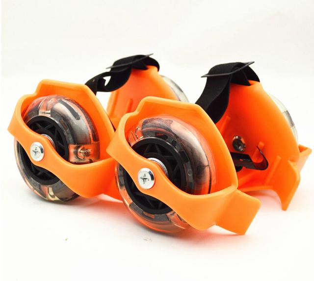 三彩燈LED 炫彩滑輪 閃光輪 五款顏色 風火輪 輪滑鞋 溜冰鞋 飛行鞋 旋風飛行鞋