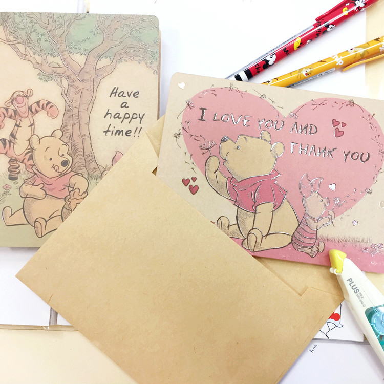 PGS7 (現貨+預購) 日本迪士尼系列商品 - 迪士尼 萬用卡 卡片 生日卡片 感謝卡 小熊維尼